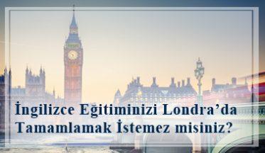 İngilizce Eğitiminizi Londra'da Tamamlamak İstemez Misiniz?